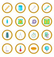 Measure tools icons circle vector image
