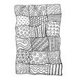 Patchwork carpet sketch for your design vector image