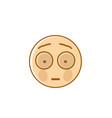 sad cartoon face shocked negative people emotion vector image