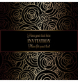 Invitation decorative golds 40 vector image
