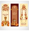 Africa sketch colored banners vertical vector image