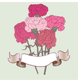 carnation card vector image