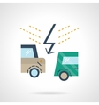 Flat color car accident icon vector image