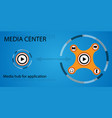 Media hub for applications vector image