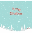 Merry christmas rabbit Happy New Year vector image