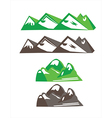 objects mountains vector image