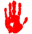 red hand print vector image