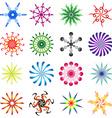 Set of design elements spiral in colors vector image
