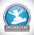 Snowboarding design vector image