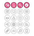 social media icons speech bubble lovers vector image