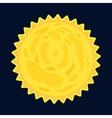 Sun burst star icon cartoon style vector image