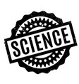science rubber stamp vector image