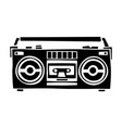 old school cassette player cartoon hand drawn vector image