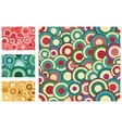 collection of seamless retro patterns vector image vector image