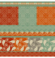 set of Christmas patterns vector image vector image