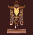 aztec dreamcatcher vector image