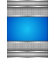 background template metallic texture blue blank vector image