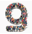 group people shape letter G vector image