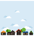 Landscape of houses vector image