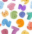 seamless number pattern Colorful figures Childrens vector image