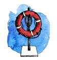 sketch of life buoy vector image