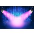 theatre spot lights vector image