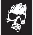 White Skull vector image