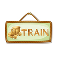 board and rail engine vector image vector image