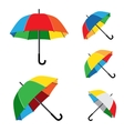 rainbow umbrella white background vector image vector image