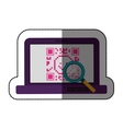 Isolated qr code and laptop design vector image