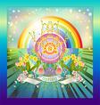 Rainbow Springtime vector image vector image