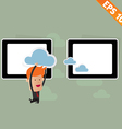 Cartoon Business man carry cloud service - vector image
