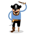 pirate on a white background vector image