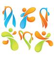 sportive symbols vector image vector image