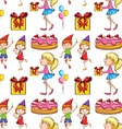 Seamless children and party vector image