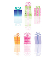 abstract present and gift icons vector image