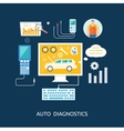 Auto mechanic service flat icons of maintenance vector image