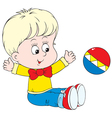 child playing a ball vector image