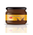 chocolate paste packaging mock up realistic vector image
