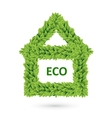 Ecology home icon of green leaves vector image