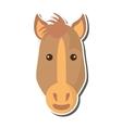 horse animal farm isolated icon vector image