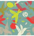 humming birds pattern vector image