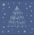 it web christmas tree vector image