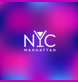 manhattan logo vector image
