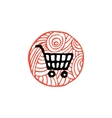 zentangle icon shop cart vector image