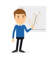 Man with schedule vector image