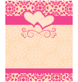 Greeting card Happy Valentines Day and wedding day vector image