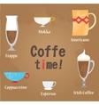 Coffe cups vector image vector image
