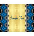 beautiful background with gold pattern vector image vector image