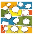 Blank Comic Bubbles Set vector image vector image